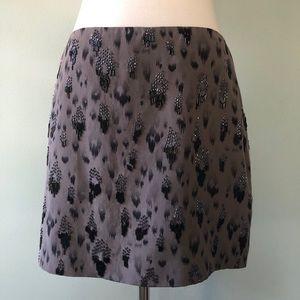 🆕🐆Rebecca Taylor beaded animal print skirt